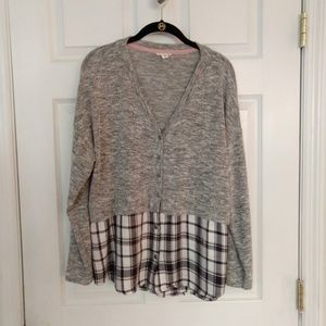 Tribal Jeans Shirt - Layered Look - Size Large